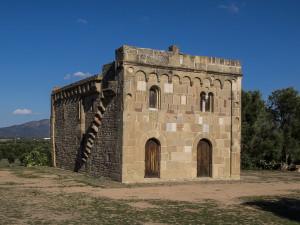 Façade de Santa Maria de Sibiòla à Serdiàna